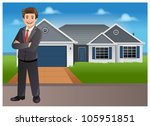 young businessman  property... | Shutterstock .eps vector #105951851