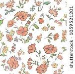 botanical floral print. wild... | Shutterstock .eps vector #1059521201