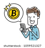 male  smartphone  internet ... | Shutterstock .eps vector #1059521327