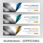 abstract web banner design... | Shutterstock .eps vector #1059521861