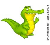 vector happy fun crocodile... | Shutterstock .eps vector #105952475