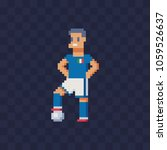 italian soccer player pixel art ... | Shutterstock .eps vector #1059526637