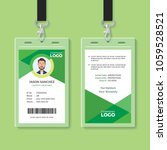 simple and clean green id card... | Shutterstock .eps vector #1059528521