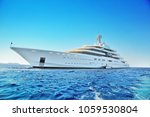 private white luxury superyacht ... | Shutterstock . vector #1059530804