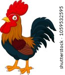 cartoon rooster isolated on... | Shutterstock .eps vector #1059532595