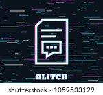 glitch effect. document with...