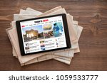 Tablet With News Website On...