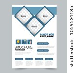 a4 size flyer template.... | Shutterstock .eps vector #1059534185