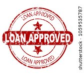 loan approved red rubber stamp... | Shutterstock .eps vector #1059535787