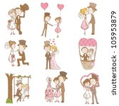 bride and groom   wedding... | Shutterstock .eps vector #105953879