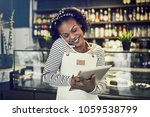 smiling young african... | Shutterstock . vector #1059538799