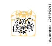 feliz cumpleanos translated... | Shutterstock .eps vector #1059540065