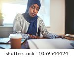 focused young muslim female... | Shutterstock . vector #1059544424