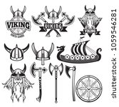 medieval warriors and his... | Shutterstock .eps vector #1059546281