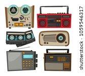 vintage audio recorders...   Shutterstock .eps vector #1059546317