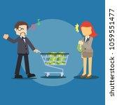 businessman pushing money... | Shutterstock .eps vector #1059551477