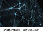 blockchain network   abstract... | Shutterstock . vector #1059563834