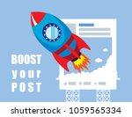 illustration vector of rocket... | Shutterstock .eps vector #1059565334