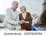 portrait of nice senior couple... | Shutterstock . vector #1059565394