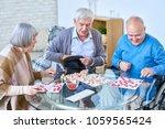 portrait of senior people... | Shutterstock . vector #1059565424
