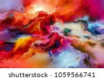 abstract colorful oil painting... | Shutterstock . vector #1059566741