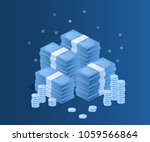 concept of big money. big pile...   Shutterstock .eps vector #1059566864
