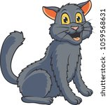 cute cat cartoon. vector... | Shutterstock .eps vector #1059568631