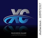 initial letter xc logotype... | Shutterstock .eps vector #1059571517