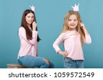 young mother and daughter...   Shutterstock . vector #1059572549