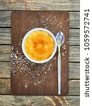 a delicious dessert of vanilla... | Shutterstock . vector #1059572741