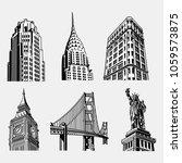 landmark famous vector | Shutterstock .eps vector #1059573875