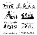 family outdoor recreational... | Shutterstock .eps vector #1059574301
