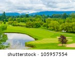 Golf Course With Gorgeous Green ...