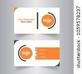 modern creative business card... | Shutterstock .eps vector #1059578237