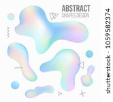 holographic liquid shapes set.... | Shutterstock .eps vector #1059582374