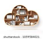 bookshelves in the shape of... | Shutterstock . vector #1059584021