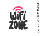 wi fi zone. sticker for social... | Shutterstock .eps vector #1059584609