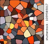abstract colorful mosaic... | Shutterstock .eps vector #1059585017