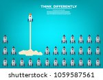 think differently   being... | Shutterstock .eps vector #1059587561