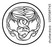 gemini twins horoscope...   Shutterstock .eps vector #1059589745
