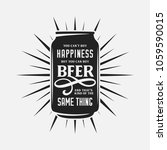 beer related typography quote.... | Shutterstock .eps vector #1059590015