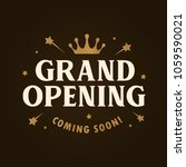 grand opening template  banner  ... | Shutterstock .eps vector #1059590021