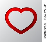 red heart from cut paper with... | Shutterstock .eps vector #1059592334