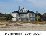 A Large Beach House On The...