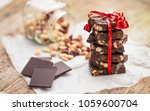home made healthy chocolate... | Shutterstock . vector #1059600704