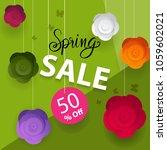 spring flower sale promotion... | Shutterstock .eps vector #1059602021