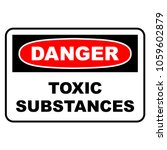 danger toxic substances sign.... | Shutterstock .eps vector #1059602879