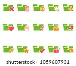 color file folder icons set  | Shutterstock .eps vector #1059607931