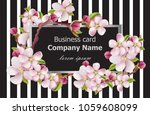 business card cherry blossom... | Shutterstock .eps vector #1059608099