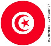 tunisia flag with official... | Shutterstock .eps vector #1059608477